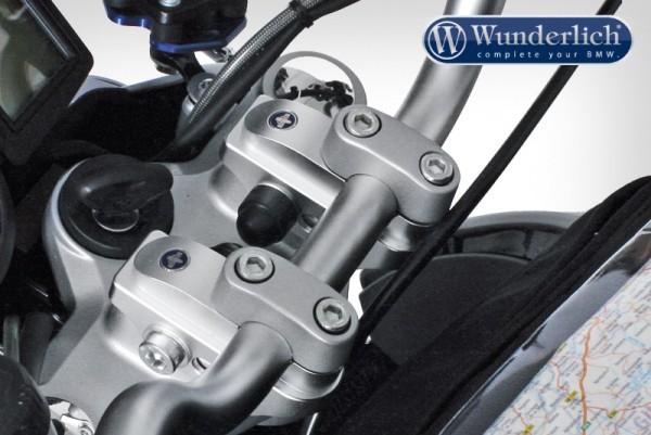 Wunderlich Vario-Riser verstellbare Lenkererhöhung - 29mm - silber